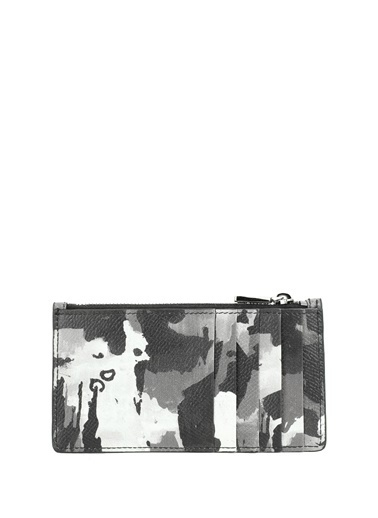 Dolce&Gabbana Dolce&Gabbana  Kamuflaj Desenli Erkek Deri Cüzdan 101620718 Siyah